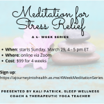 Meditation for Stress Relief – 4 Week Online Series